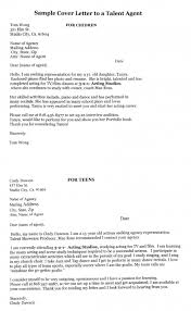 awesome collection of cover letter examples for talent agent for