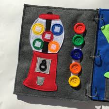 Matching Colors Gumball Machine Quiet Book Page Learning Colors Childrens