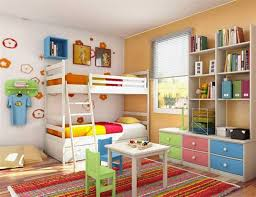 Colorful Bedroom Design by Kids Bedroom Cute Kid Bedroom Decoration With Colorful Trundle