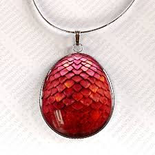 red necklace pendant images Red dragon egg pendant jewelry dragon necklace dragon egg jpg