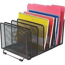 Black Wire Mesh Desk Accessories Staples Wire Mesh Sorter Black 8 1 7 H X 14 5 7 W X 8 1 3