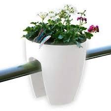 Home Depot Plastic Planters by Weather Resistant Railing Planters Pots U0026 Planters The Home
