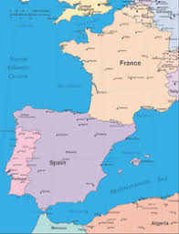 europe peninsulas map editable europe iberian peninsula map with cities illustrator