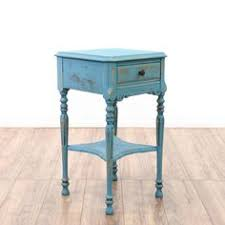 Shabby Chic Blue Paint by Chippy Paint End Table Aqua Turquoise Blue Rustic Distressed Chalk
