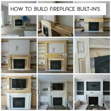 building our fireplace built in u0027s the sweetest digs diy built in