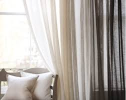 linen curtains etsy
