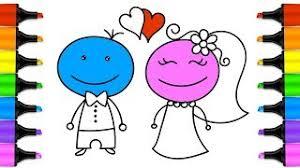 hmongbuy net wedding groom bride coloring pages drawings