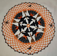 halloween witches crochet doily pattern crochet doily patterns