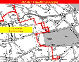 Route 70 Map by London Bus Route 70