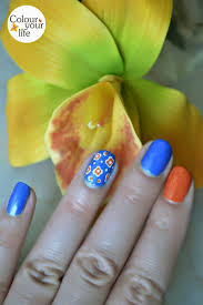 colour your life flower power nails and a great weekend