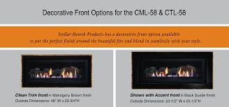ctl 58 transitional linear dv gas fireplace stellar hearth products