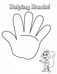 helping hand coloring page