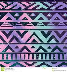 aztec tribal pattern on cosmic background stock vector