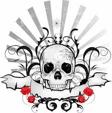 skull ribbon black skull ribbon emblem free vector in adobe illustrator ai