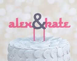 wedding cake toppers curated by martha stewart weddings on etsy