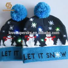 beanie with led lights a731 light up christmas hat led lights cuff pom pom beanie led light