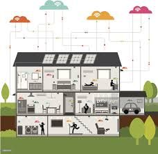 wireless smart technology house vector art getty images