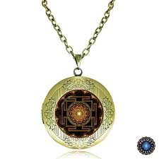 pendant picture necklace images Sacred sri yantra locket pendant necklace project yourself jpg