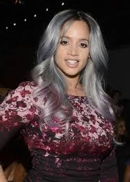gray hair popular now dascha polanco has purple and gray hair now should the other