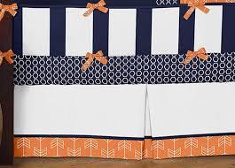 arrow orange u0026 navy crib bedding set by sweet jojo designs 9