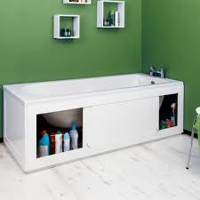 B Q Bathroom Storage by Croydex Unfold U0027n U0027 Fit White Bath Panel U0026 Lockable Storage Side