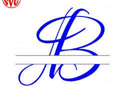 Monogram Letter B Letter B Svg Etsy Studio