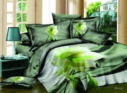 Green Comforter Sets Amazing 4 Piece Cotton Comforter Sets With Super Nature Green