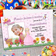 Princess Birthday Invitation Card 10 Personalised Princess Birthday Party Photo Invitations N83