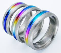 cheap titanium rings images Bayou titanium ring with rainbows titanium wedding rings jpg