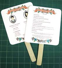 diy fan wedding programs diy easy peasy paddle programs