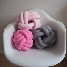 knot pillow pink knotted pillow knot cushion chunky pillow sofa