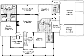 floor plans for one story country homes