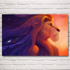 online shop the lion king movie art silk fabric poster prints home