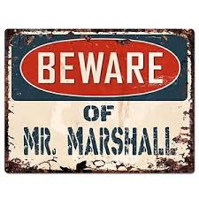 Marshall Home Decor Pp2239 Beware Of Mr Marshall Plate Chic Sign Home Store Wall