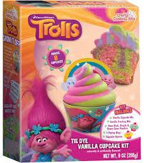 dreamworks trolls tie dye vanilla cupcake kit joann