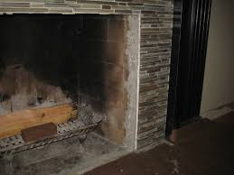 living in high gloss tiling the fireplace surround diying to be