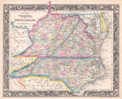 Map Of Virginia With Cities by File 1860 Mitchell Map Of Virginia Undivided And North Carolina