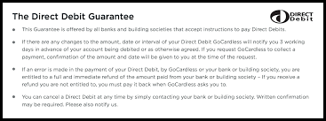 Cancellation Of Services Letter From Business by The Direct Debit Guarantee Your Rights As A Customer Gocardless