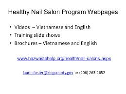 healthy nail salon recognition program glamour nail salon