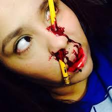 31 days of halloween pencil accident u2013 makeup by vicktoria