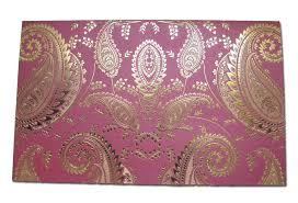 indian wedding cards design hw018 indian design wedding card letterpressed gold paisley