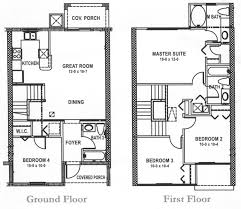 floor plans for 4 bedroom houses pleasant design 7 4 bedroom house plans in jamaica townhouse