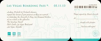 wedding invitations boarding pass vegas strip invitations by r2