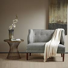 High Back Settee With Arms Amazon Com Madison Park Fpf18 0413 Sorano Tufted Round Arm Settee