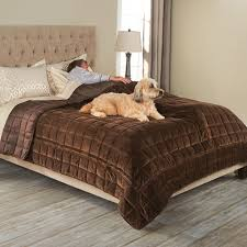 the bed protecting pet cover hammacher schlemmer