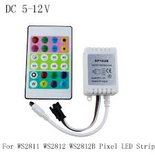 Led Light Strip Controllers by 2017 Ir Remote Controller Dc 5v 12v For Ws2812 Rgb Led Strip Test