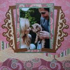 Wedding Scrapbook Page Wedding Scrapbook 5 Engagement Me And My Cricut