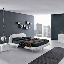 Small Bedroom Grey Walls Bedroom White Modern Leather Low Profil Bed Grey Mettress Metalic