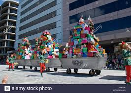 toyville trolley float in the credit union christmas pageant