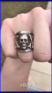 antique skull rings images Vintage mens ring vintage men sterling silver ruby eye antique jpg